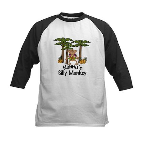 Nonna's Silly Monkey Boy Kids Baseball Jersey