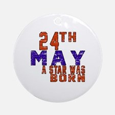 24 May A Star Was Born Round Ornament