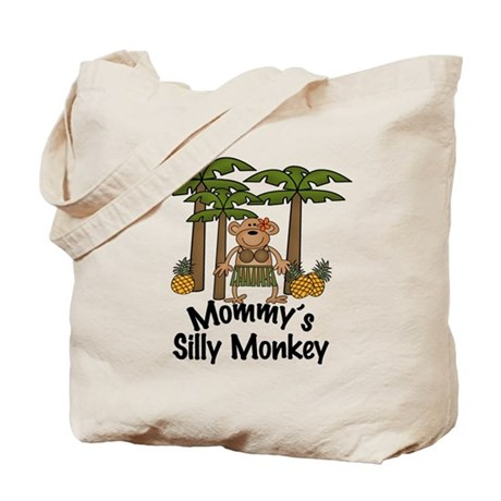 Mommy's Silly Monkey Girl Tote Bag