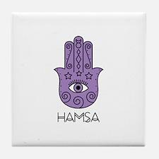 Hamsa Symbol Tile Coaster