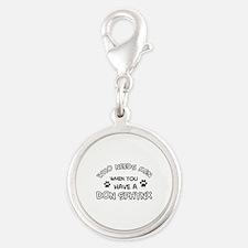 Don Sphynx Cat Designs Silver Round Charm