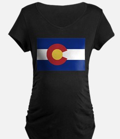 Flag of the State of Colorado Maternity T-Shirt