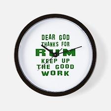 Dear God Thanks For Rum Wall Clock
