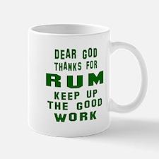 Dear God Thanks For Rum Mug