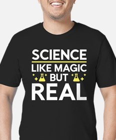 Like Magic But Real Men's Fitted T-Shirt (dark)