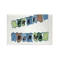 Free Burma Prayer Flags Rectangle Magnet