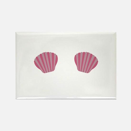 Pink Mermaid Bikini Magnets
