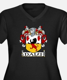 Daly Coat of Arms Women's Plus Size V-Neck Dark T-