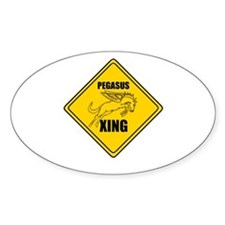 Pegasus Xing ~ Oval Decal