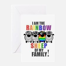 Rainbow Family Sheep Greeting Cards