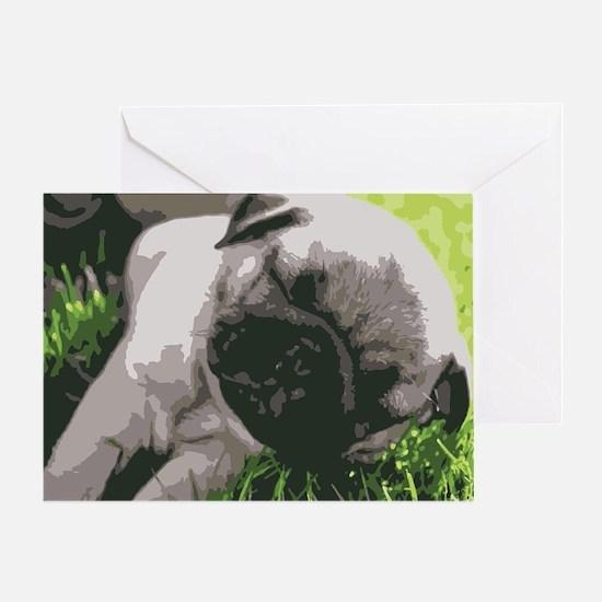 Unique Pug pop art Greeting Card