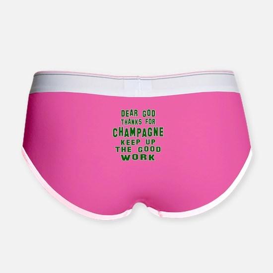 Dear God Thanks For Champagne Women's Boy Brief