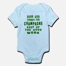 Dear God Thanks For Champagne Infant Bodysuit