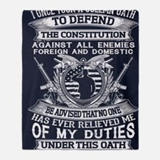 Cute Constitution Throw Blanket