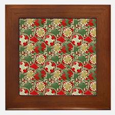 Christmas Pattern Framed Tile