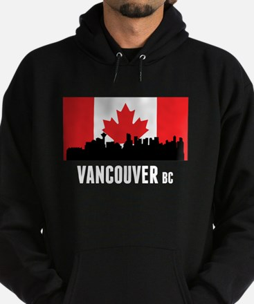 Vancouver BC Canadian Flag Hoodie