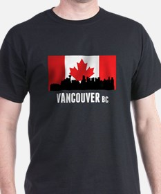 Vancouver BC Canadian Flag T-Shirt