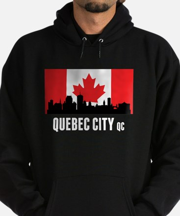 Quebec City QC Canadian Flag Hoodie