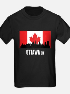 Ottawa ON Canadian Flag T-Shirt