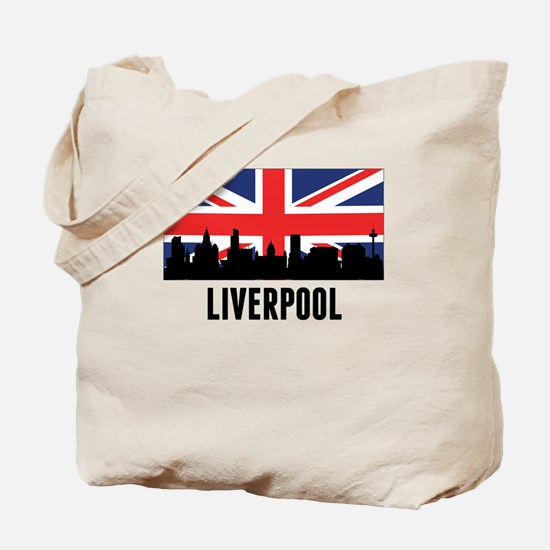 Liverpool British Flag Tote Bag