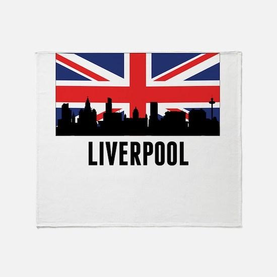 Liverpool British Flag Throw Blanket