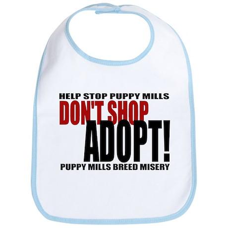 Don't Shop, Adopt! Puppy Mills Bib