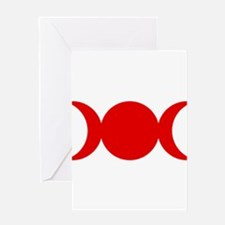 Red Triple Goddess Greeting Cards