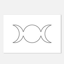 Gray Triple Goddess Outline Postcards (Package of