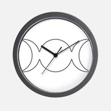 Gray Triple Goddess Outline Wall Clock