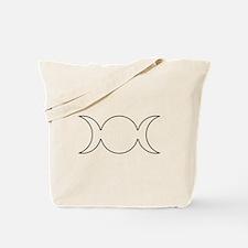Gray Triple Goddess Outline Tote Bag