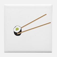 Sushi rolls with chopsticks Tile Coaster