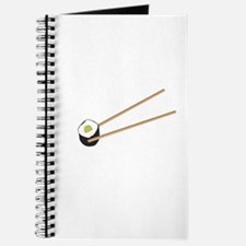 Sushi rolls with chopsticks Journal