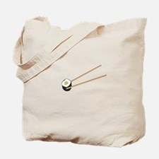 Sushi rolls with chopsticks Tote Bag