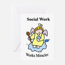 Social Work Miracle Workers Greeting Cards (Packa