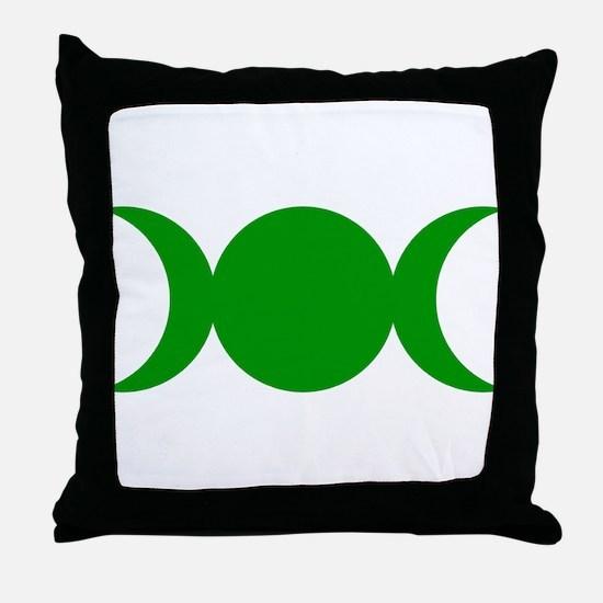 Green Triple Goddess Throw Pillow