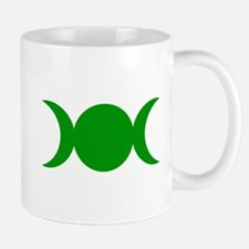 Green Triple Goddess Mugs