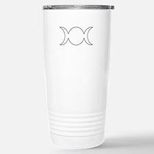 Black Triple Goddess Outline Travel Mug