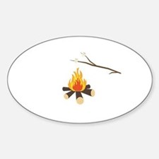 Campfire with marshmallows Decal
