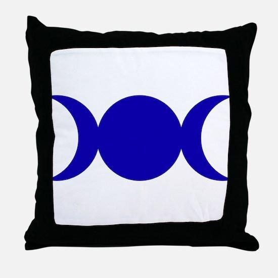 Dark Blue Triple Goddess Throw Pillow