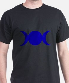 Dark Blue Triple Goddess T-Shirt