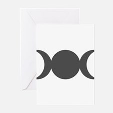 Gray Triple Goddess Greeting Cards
