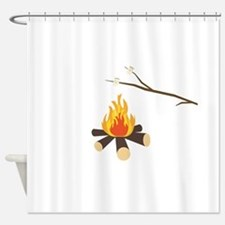 Campfire with marshmallows Shower Curtain