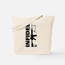 Infidel Rifle Design Tote Bag