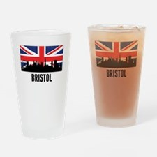 Bristol British Flag Drinking Glass