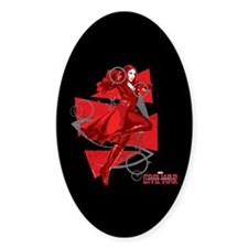 Scarlet Witch Triangles Decal