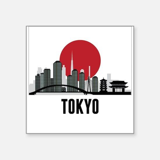 Tokyo Japanese Flag Sticker
