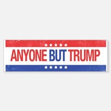 Anyone But Trump Bumper Car Car Sticker