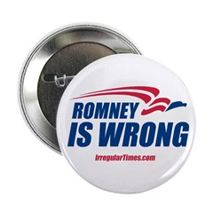 Romney is Wrong Button