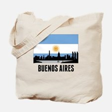 Buenos Aires Argentinian Flag Tote Bag