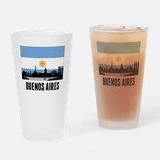 Buenos Aires Argentinian Flag Drinking Glass